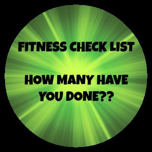 fitness checklist