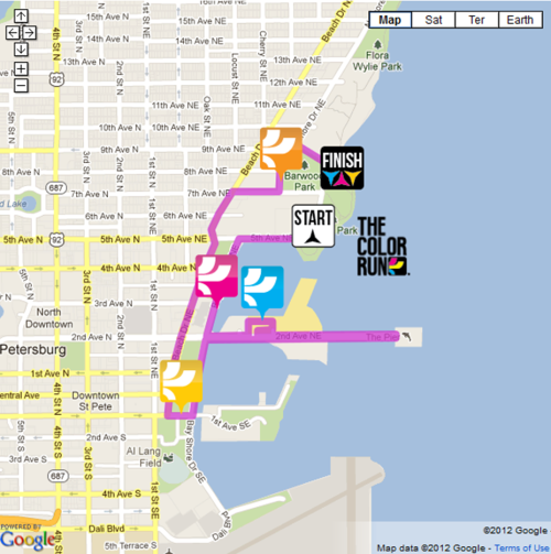 Map Color Run St Pete