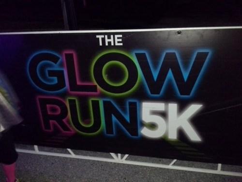Glow Run Sign